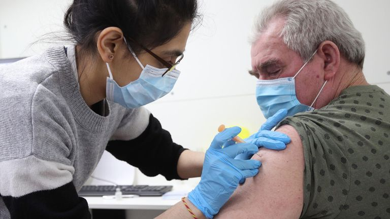 One in five people in the UK have now received the first dose of a vaccine