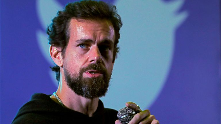 FILE PHOTO: Twitter CEO Jack Dorsey addresses students during a town hall at the Indian Institute of Technology (IIT) in New Delhi, India, November 12, 2018