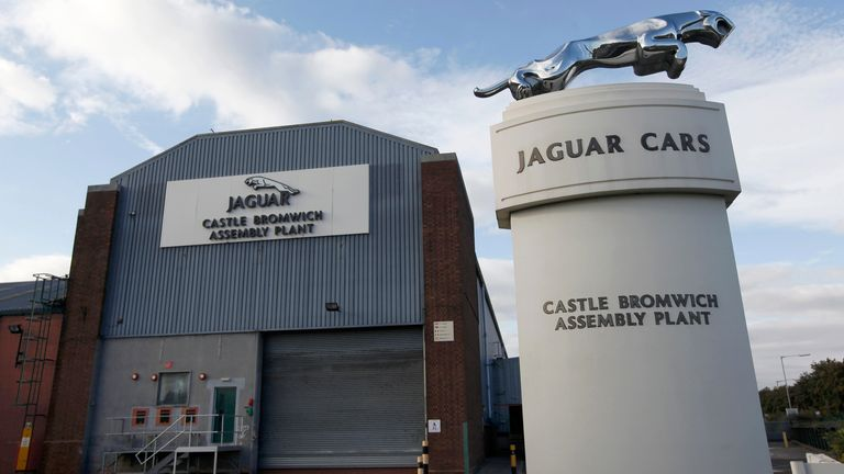 Jaguar assembly plant in Castle Bromwich