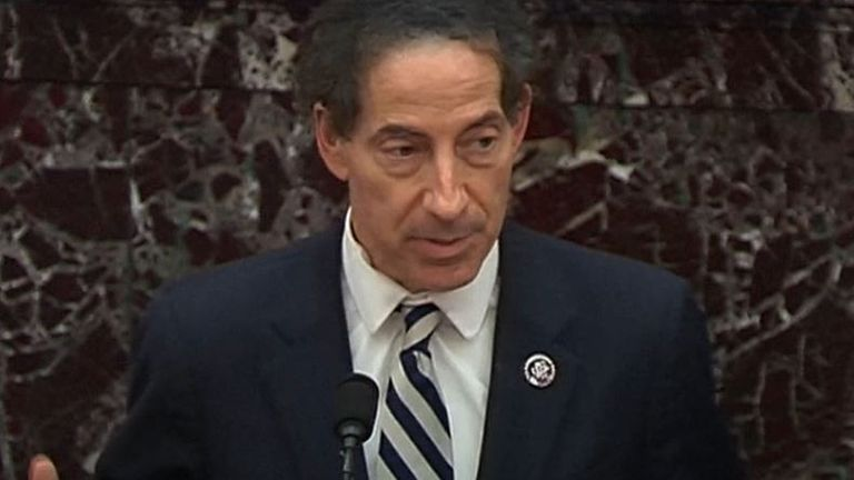 skynews jamie raskin democrat 5269525 Football Souvenir Trump impeachment trial: Three things that make the verdict crucial to all of us