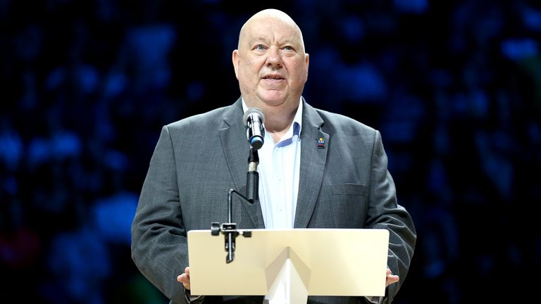 Mayor of Liverpool Joe Anderson during the Netball World Cup at the M&S Bank Arena, Liverpool in 2019