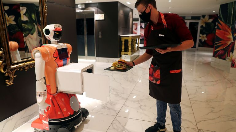 Robots Lexi, Micah and Ariel have been introduced at Hotel Sky in Johannesburg's wealthy Sandton district.