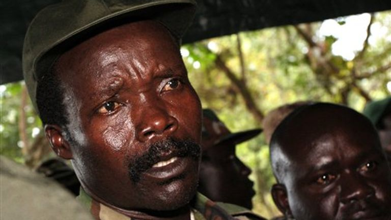 The leader of the Lord's Resistance Army, Joseph Kony, pictured in 2006