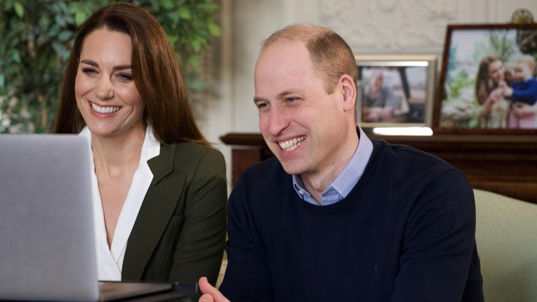 The Duke and Duchess of Cambridge spoke with vulnerable people via video calls. Pic: Kensington Palace