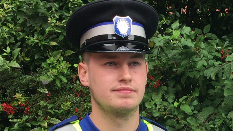 PC Kieron Poole says he feared for his life. Pic: West Midlands Police