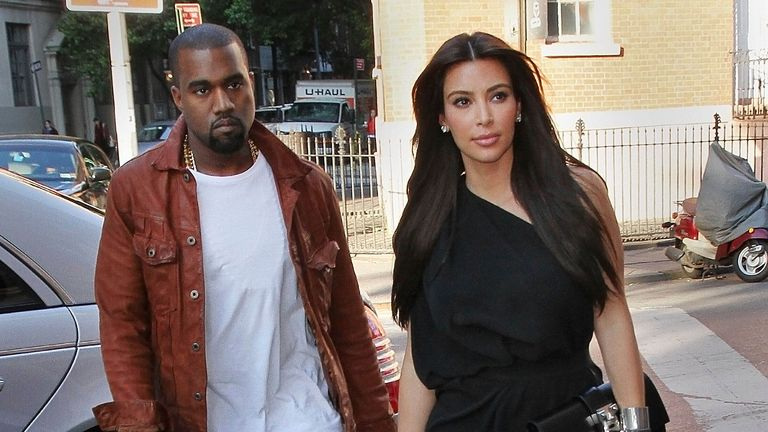 "Photo by: XPX/STAR MAX/IPx.2021.2/19/21.Kim Kardashian files for divorce from Kanye West after 6 years of marriage...STAR MAX File Photo:.4/29/12.Kim Kardashian and Kanye West have a fun-filled romantic day together - first going to Serafina for lunch and then going to see the Broadway Play, ""Wicked"". They finished with dinner at ""Joseph Leonard"", an ice cream at Haagen Dazs and then went to the movies to see, ""Think Like a Man""..(NYC)"