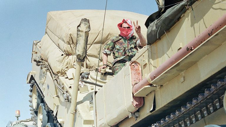 British troops were among the 500,000 allied personnel deployed in the 1991 Gulf War