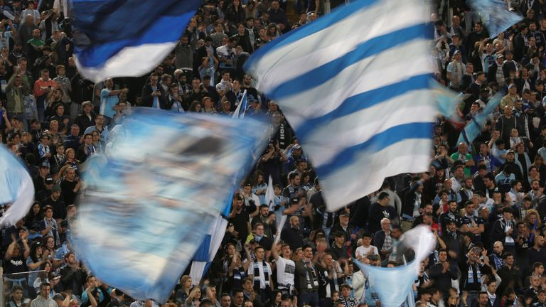 Lazio fans follow their team in Serie A - but some sections of their support are known for their links to the far right