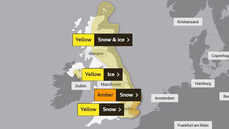 Weather warnings issued by the Met Office (update)