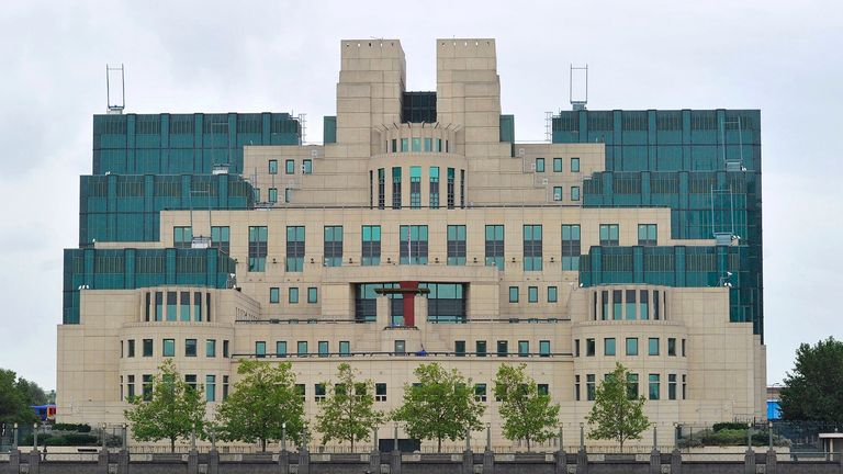 LGBT+ people were banned from working for intelligence services like MI6 (pictured) until 1991