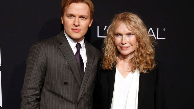 Mia Farrow and her son Ronan Farrow