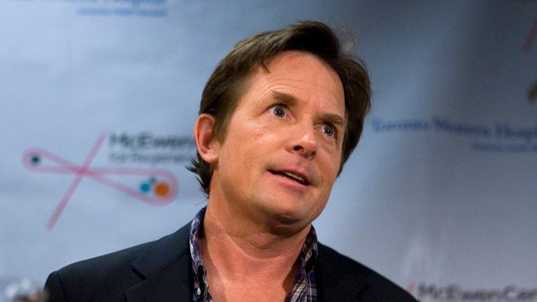 Actor Michael J Fox was diagnosed with Parkinson's when he was 29 Pic: AP