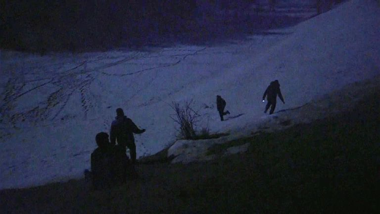 due to pandemic restrictions, some migrants and asylum seekers who entered Europe through the Balkans are trying to reach France by hiking across Alps from Italy.