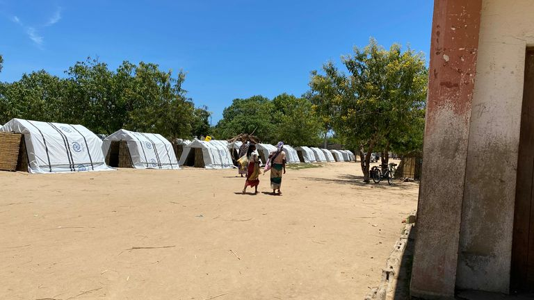 Camps have been set up for those who have been displaced
