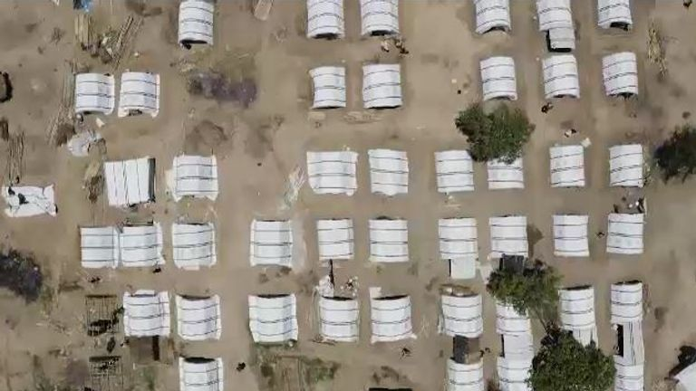 Large camps have been installed but the UN needs much more money to keep them going
