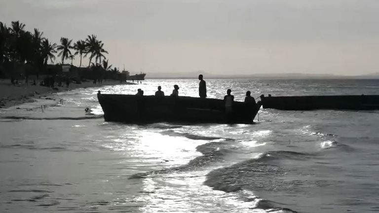 Boats can be seen dropping people on the beaches daily