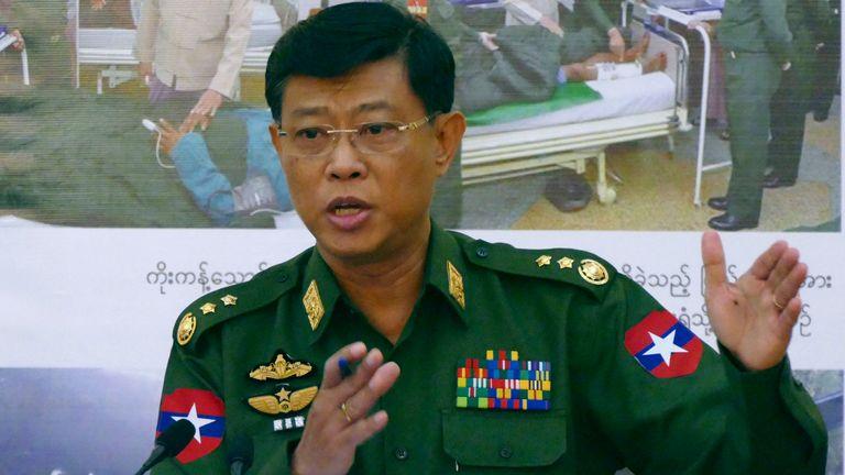 General Mya Tun Oo in 2015. Pic: AP