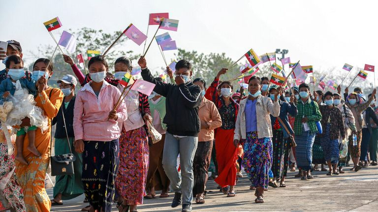 Myanmar's New Military Government Shutdown Internet Amidst Massive Protest Against Coup