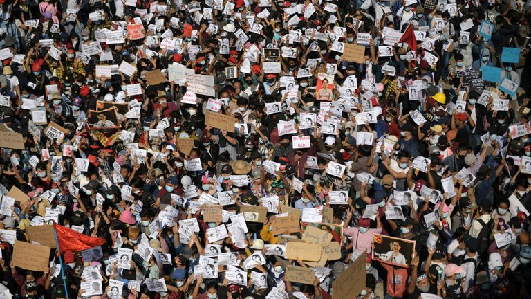 Tens of thousands have taken to the streets in protest