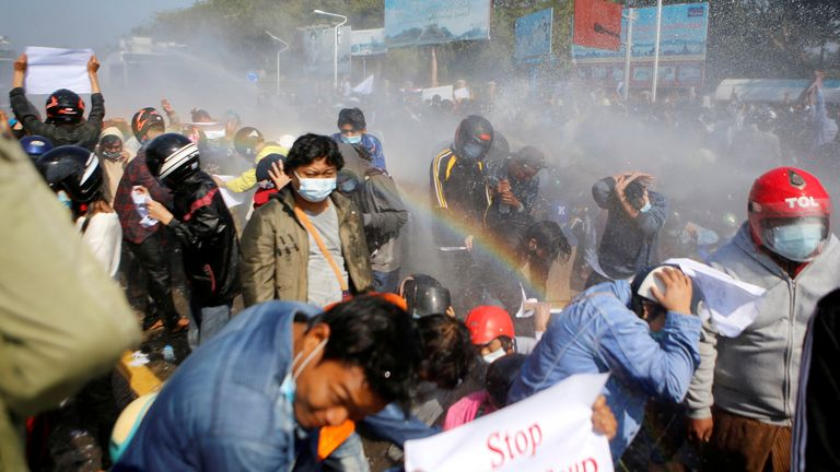 Protesters turned out in defiance of new laws imposed against holding gatherings