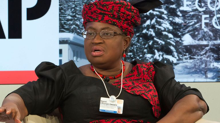 Ngozi Okonjo-Iweala is a former finance minister of Nigeria and the first woman to hold the leadership of the WTO. Pic: AP