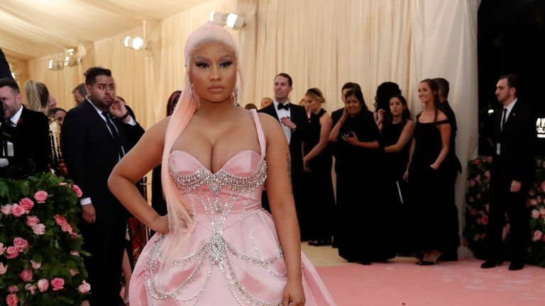 Metropolitan Museum of Art Costume Institute Gala - Met Gala - Camp: Notes on Fashion - Arrivals - New York City, U.S. - May 6, 2019 - Nicki Minaj