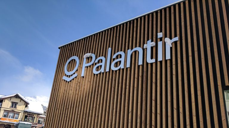 Palantir pavilion, World Economic Forum, Davos, Switzerland. Pic: Cory Doctorow