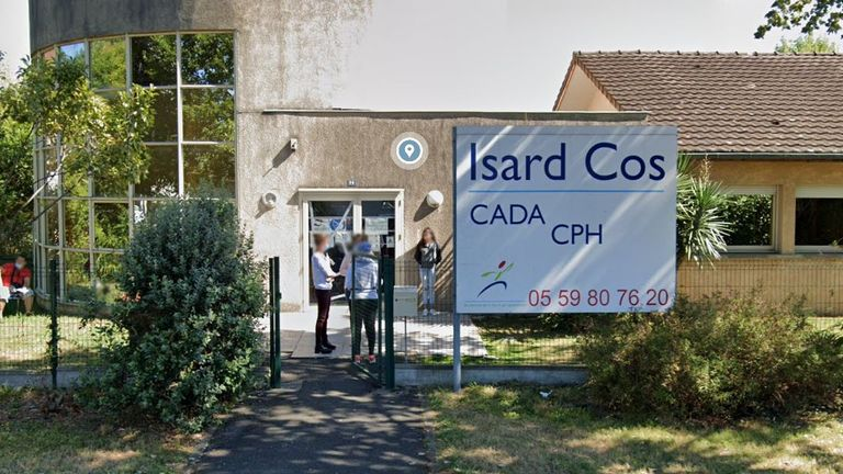 The killing happened at the Isard Cos asylum centre in Pau. Pic: Google
