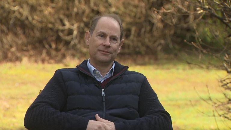 Edward, Earl of Wessex said his father, the Duke of Edinburgh, was 'feeling a lot better' in an interview with Sky News.