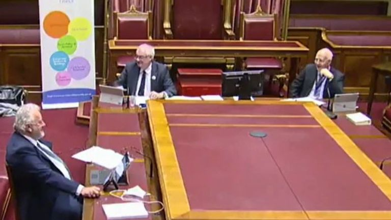 Hilarity in Northern Ireland Assembly video call as participant called Colin Pidgeon is handed a pigeon by his cat