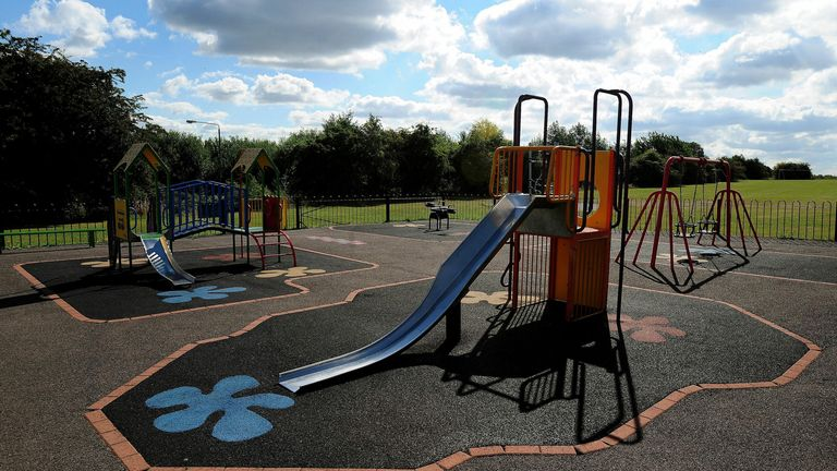 File photo dated 11/08/10 of a children's playground in South Derbyshire.  Picture by: Rui Vieira/PA Archive/PA Images Date taken: 15-Sep-2017