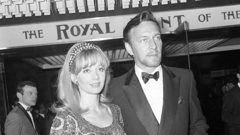 Christopher Plummer and wife Elaine Taylor in 1969