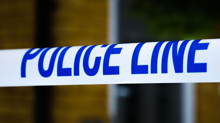 A police tape surrounds a crime scene in London. (Photo by Dinendra Haria / SOPA Images/Sipa USA)