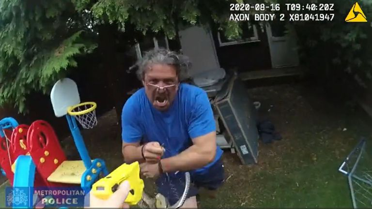 screengrab from bodycam footage of the arrest of Adrian Popa