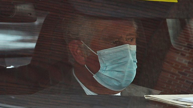 The Prince of Wales leaves the King Edward VII Hospital in London