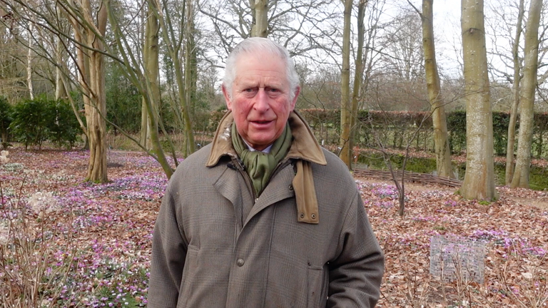 The Prince of Wales has encouraged children to decorate pebbles