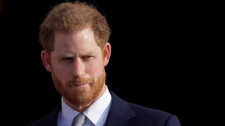 Prince Harry has given a wide-ranging interview to James Corden. Pic: AP
