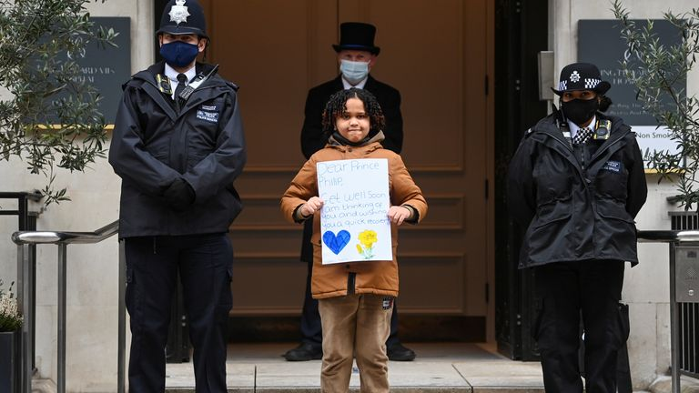 A 10-year-old boy from north London wrote a letter to the Duke wishing him a quick recovery