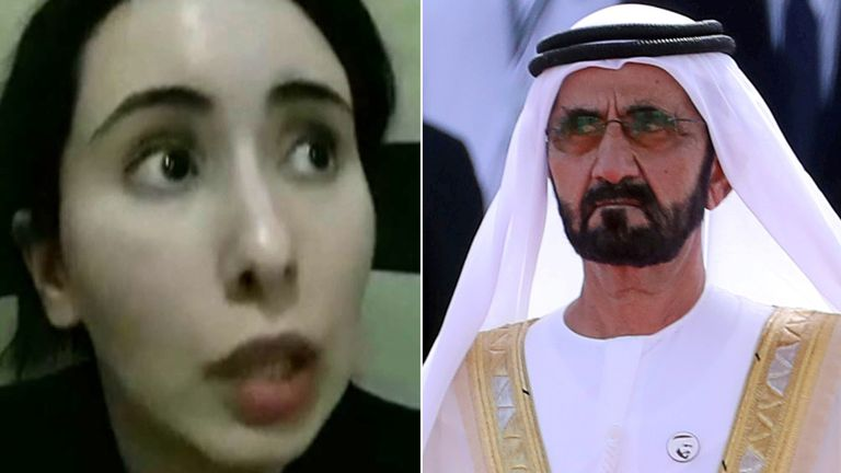 Princess Latifa and Mohammed bin Rashid al-Maktoum