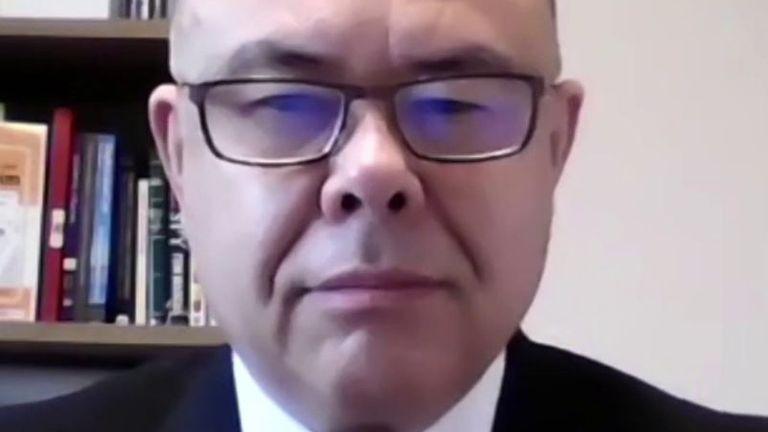 Professor Jonathan Van-Tam appears live on special Sky News show