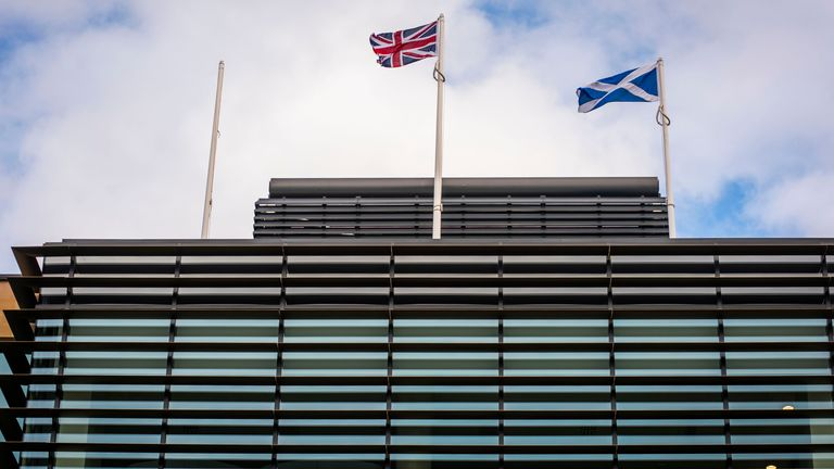 Queen Elizabeth House, the UK government's sleek new Edinburgh headquarters. Pic: Chris Watt/UK government