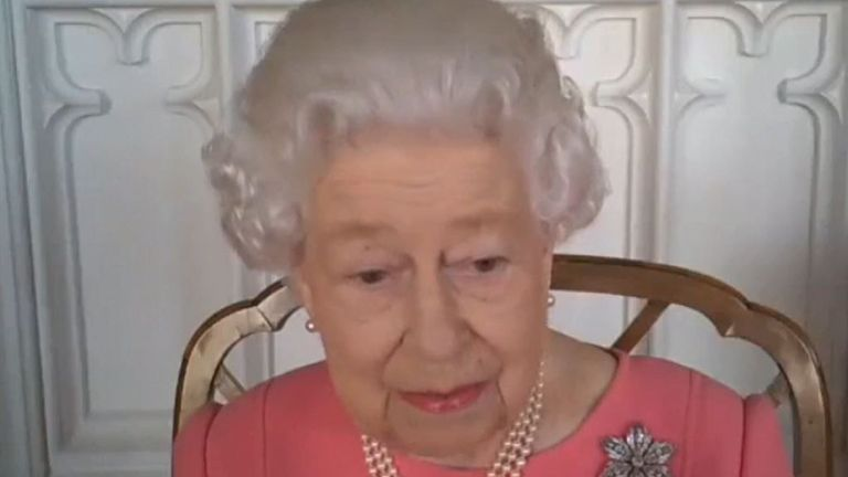 The Queen likened the COVID-19 pandemic to a plague