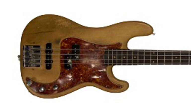 A 1960 Fender Precision bass guitar used by Jonny Greenwood on Radiohead's second album The Bends, due to be sold at auction