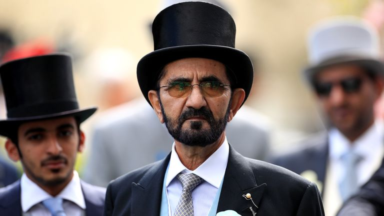 Godolphin founder Sheikh Mohammed bin Rashid Al Maktoum during day five of Royal Ascot at Ascot Racecourse. PRESS ASSOCIATION Photo. Picture date: Saturday June 22, 2019. See PA story RACING Ascot. Photo credit should read: Mike Egerton/PA Wire. RESTRICTIONS: Use subject to restrictions. Editorial use only, no commercial or promotional use. No private sales.