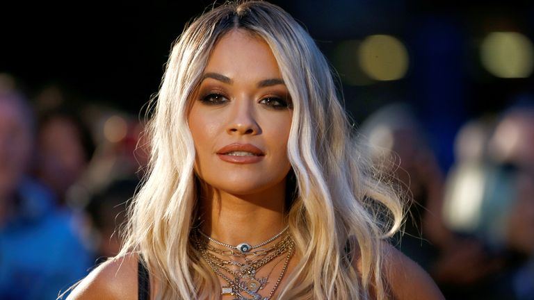 Singer Rita Ora poses as she arrives to the GQ Men Of The Year Awards in London on September 3, 2019