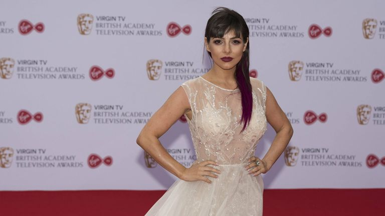 Roxanne Pallett attends the Virgin TV British Academy Television Awards in 2017. Pic: AP