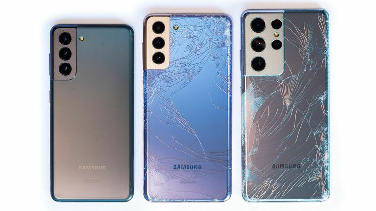 How easy is it to smash Samsung's new smartphones? Pic: SquareTrade