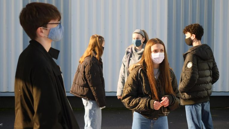 Students at Bohunt School in Worthing, West Sussex. Grab from Bundock VT