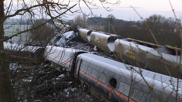 Ten people were killed in the train crash on 28 February 2001