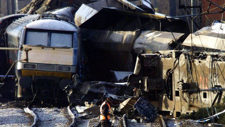 The widow of a locomotive driver killed in the crash says lessons have not been learned